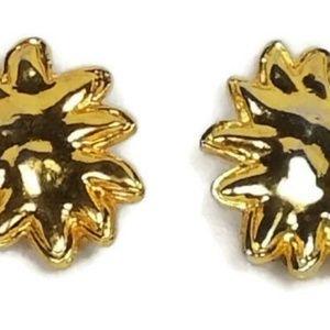 Vintage Made In France Star SunBurst Clip Earrings